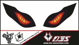 1 jeu de caches phares DJS pour KAWASAKI  ZX-6R-2009-2012 microperforés qui laissent passer la lumière - référence : yeux modèle 6-