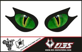 1 jeu de caches phares DJS pour KAWASAKI ZX-10R 2006-2007 microperforés qui laissent passer la lumière - référence : yeux modèle 16-