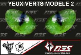 1 jeu de caches phares DJS pour KAWASAKI ZX-6R-2007-2008 microperforés qui laissent passer la lumière - référence : yeux modèle 2-