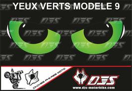 1 jeu de caches phares DJS pour KAWASAKI  ZX-6R-2009-2012 microperforés qui laissent passer la lumière - référence : yeux modèle 9-