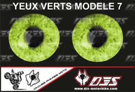 1 jeu de caches phares DJS pour Yamaha r6 2006-2016  microperforés qui laissent passer la lumière - référence : Yamaha r6 2006-2016-yeux modèle 7-