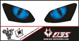 1 jeu de caches phares DJS pour YAMAHA R1 2007-2008 microperforés qui laissent passer la lumière - référence : YAMAHA R1 2007-2008-yeux modèle 1-