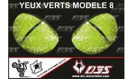 1 jeu de caches phares DJS pour KAWASAKI  ZX6R-2003-2004  microperforés qui laissent passer la lumière - référence : yeux modèle 8-