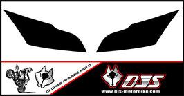 1 jeu de caches phares DJS pour Kawasaki ZX10R 2011-2015 microperforés qui laissent passer la lumière - référence : zx10r-2011-2015-fond noir uni