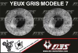 1 jeu de caches phares DJS pour  SUZUKI-SVS-2003-2016 microperforés qui laissent passer la lumière - référence : yeux modèle 7-