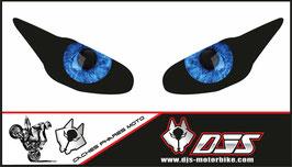 1 jeu de caches phares DJS pour  Triumph daytona 2009-2012 microperforés qui laissent passer la lumière - référence : yeux modèle 7-