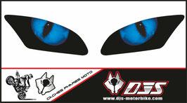 1jeu de caches phares DJS pour Yamaha r6 2006-2016 microperforés qui laissent passer la lumière - référence : Yamaha r6 2006-2016-yeux modèle 1-