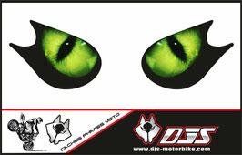 1 jeu de caches phares DJS pour KAWASAKI ZX-10R 2006-2007 microperforés qui laissent passer la lumière - référence : yeux modèle 1-