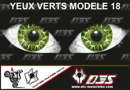 1 jeu de caches phares DJS pour BMW S 1000 RR 2015-2017 microperforés qui laissent passer la lumière - référence : yeux modèle 18-