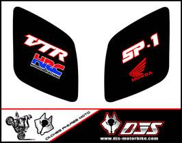 1 jeu de caches phares DJS pour Honda vtr sp1-sp2  microperforés qui laissent passer la lumière - référence : VTR SP1-SP2-007-