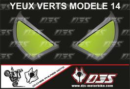 1 jeu de caches phares DJS pour KAWASAKI  ZX-6R-2009-2012 microperforés qui laissent passer la lumière - référence : yeux modèle 14-
