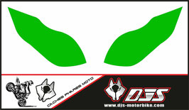 1 jeu de caches phares DJS pour Kawasaki zx6r microperforés qui laissent passer la lumière - référence : zx6-r-2009-2012-couleur uni-