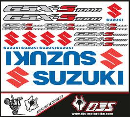 stickers en planche pour SUZUKI GSX-F 1000