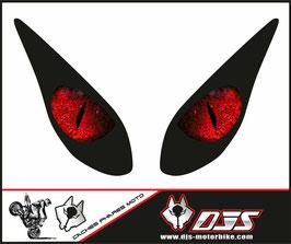 1 jeu de caches phares DJS pour yamaha T-MAX 2008-2011 microperforés qui laissent passer la lumière - référence : T-MAX-2008-2011-yeux 004-