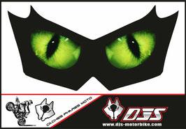 1 cache phare DJS pour Kawasaki Z750-2007-2014 microperforé qui laisse passer la lumière - référence : Z750-2007-2014-yeux modèle 1-