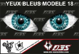 1 jeu de caches phares DJS pour YAMAHA YZF R 300 2015-2018 microperforés qui laissent passer la lumière - référence : YAMAHA YZF R 300 2015-2018-yeux modèle 18-