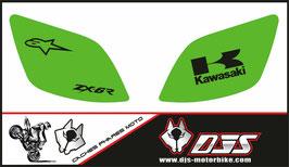 1 jeu de caches phares DJS pour Kawasaki ZX6R microperforé qui laissent passer la lumière - référence : ZX6R- 2000-2002-006-