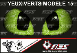 1 jeu de caches phares DJS pour KAWASAKI ZX-10R 2006-2007 microperforés qui laissent passer la lumière - référence : yeux modèle 15-