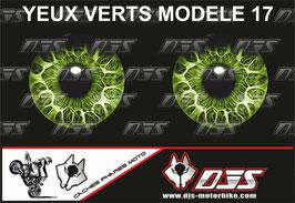 1 jeu de caches phares DJS pour KAWASAKI ZX-6R -2018-2021 microperforés qui laissent passer la lumière - référence : yeux modèle 17-