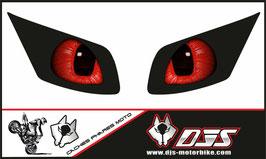 1 jeu de caches phares DJS pour YAMAHA FZ1 2006-2009 microperforés qui laissent passer la lumière - référence : FZ1-2006-2009-YEUX 015 -