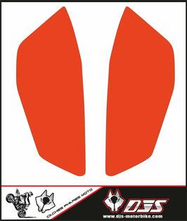 1 jeu de caches phares DJS pour KTM DUKE 890 2020-2021 microperforés qui laissent passer la lumière - référence : DUKE 890 2020-2021-COULEUR   UNIE-