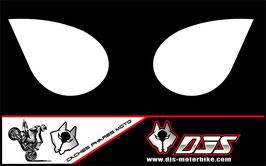 1 jeu de caches phares DJS pour Kawasaki zx6r microperforés qui laissent passer la lumière - référence : zx6-r-2007-2008-blanc