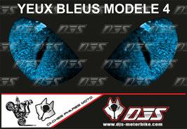 1 jeu de caches phares DJS pourYAMAHA YZF R 300 2015-2018 microperforés qui laissent passer la lumière - référence : YAMAHA YZF R 300 2015-2018-yeux modèle 4-