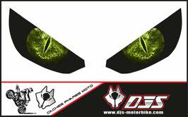 1 jeu de caches phares DJS pour Kawasaki Z1000 2015-2021 microperforés qui laissent passer la lumière - référence : z1000-2015-2021-yeux modèle 5-