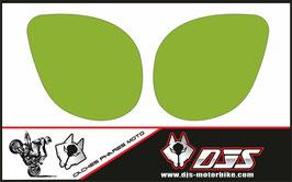 1 jeu de caches phares DJS pour Kawasaki zx7r 1999 microperforés qui laissent passer la lumière - référence : zx7-r-1999-NOIR UNI-