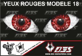 1 jeu de caches phares DJS pour  Honda CBR 600 RR 2008-2012 microperforés qui laissent passer la lumière - référence : yeux modèle 18-