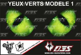 1 cache phare DJS pour Kawasaki Z400-2019-2021 microperforé qui laisse passer la lumière - référence : Kawasaki Z400-2019-2021-yeux modèle 1-