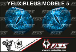 1 cache phare DJS pour SUZUKI  GSX-R 1000 2003-2004 microperforé qui laisse passer la lumière - référence : yeux modèle 5-