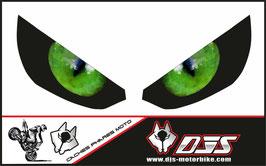 1 jeu de caches phares DJS pour Kawasaki Z1000 2015-2019 microperforés qui laissent passer la lumière - référence : z1000-2015-2019-yeux modèle 2-