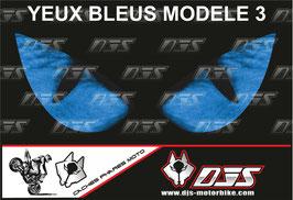 1 cache phare DJS pour  SUZUKI GSX-R 1000 2007-2008 microperforé qui laisse passer la lumière - référence : yeux modèle 3-