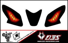 1 jeu de caches phares DJS pour APRILIA RSV4 2014-2020 microperforés qui laissent passer la lumière - référence : yeux modèle 6-