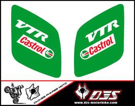 1 jeu de caches phares DJS pour Honda vtr sp1-sp2  microperforés qui laissent passer la lumière - référence : VTR SP1-SP2-005-