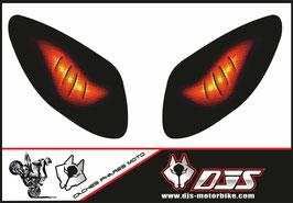 1 jeu de caches phares DJS pour Yamaha T MAX  2001-2008 microperforés qui laissent passer la lumière - référence : T MAX  2001-2008-yeux modèle 1-