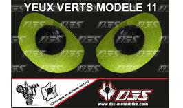 1 jeu de caches phares DJS pour KAWASAKI  ZX-6R-2009-2012 microperforés qui laissent passer la lumière - référence : yeux modèle 11-