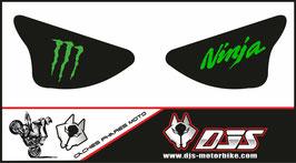 1 jeu de caches phares DJS pour Kawasaki zx6r microperforé qui laisse passer la lumière - référence : ZX6R-2003-2004-009-