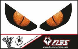 1 jeu de caches phares DJS pour Kawasaki Z1000 2015-2021 microperforés qui laissent passer la lumière - référence : z1000-2015-2021-yeux modèle 8-