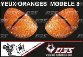 1 jeu de caches phares DJS pour KTM SUPERDUKE 1290 2017-2021 microperforés qui laissent passer la lumière - référence : yeux modèle 8-