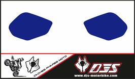 1 jeu de caches phares DJS pour YAMAHA MT 10 2015-2021 microperforés qui laissent passer la lumière - référence : YAMAHA MT 10 2015-2021-bleu uni-