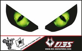 1 jeu de caches phares DJS pour Kawasaki Z1000 2015-2019 microperforés qui laissent passer la lumière - référence : z1000-2015-2019-yeux modèle 1-