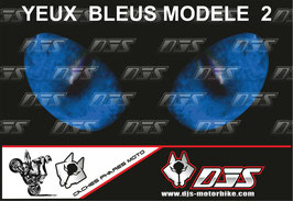 1 cache phare DJS pour  SUZUKI GSX-R 1000 2009-2015 microperforé qui laisse passer la lumière - référence :yeux modèle 2-