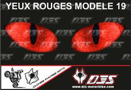 1 jeu de caches phares DJS pour HONDA CBR 1000 RR -2008-2011 microperforés qui laissent passer la lumière - référence : yeux modèle 19-