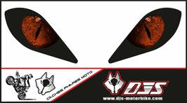 1 jeu de caches phares DJS pour YAMAHA RAPTOR  microperforés qui laissent passer la lumière - référence : RAPTOR-yeux 004