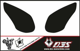 1 jeu de caches phares DJS pour kawazaki ZX10R 2008-2010 microperforés qui laissent passer la lumière - référence : ZX10R-2008-2010-noir-