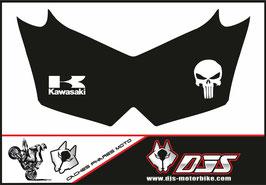 1 jeu de cache phare DJS pour Kawasaki Z750 microperforés qui laisse passer la lumière - référence : Z750-2007-2014-025-