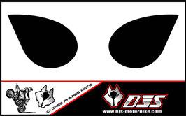 1 jeu de caches phares DJS pour Kawasaki zx6r microperforés qui laissent passer la lumière - référence : zx6-r-2007-2008-noir uni