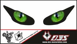 1 jeu de caches phares DJS pour Triumph daytona 2009-2012 microperforés qui laissent passer la lumière - référence : yeux modèle 2-